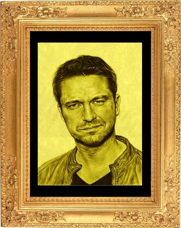 Портрет мужчины из золота