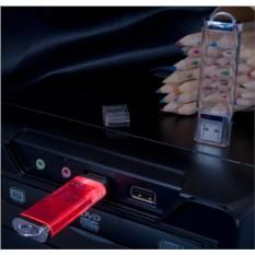 Прозрачная флешка Shinе с красной подсветкой на 4 Gb