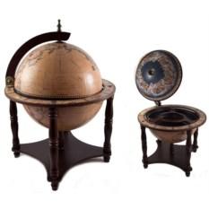 Настольный глобус-бар на 4 отдела