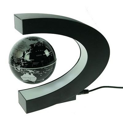 Летающий магнитный глобус в полуовале