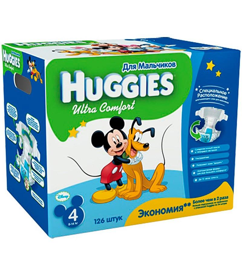 Подгузники Huggies Ultra Comfort (8-14 кг) 126 шт.