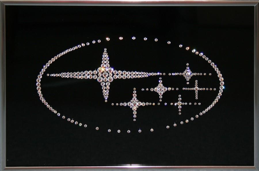 Картина с кристаллами Сваровски Subaru