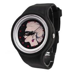 Черные силиконовые часы Cherry Girl