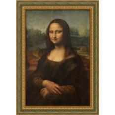Репродукция на холсте Леонардо да Винчи Мона Лиза в багете