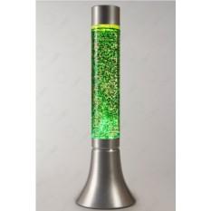 Лава-лампа (цвет — зелёный с блестками)