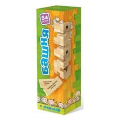 Настольная игра для детей Падающая башня с заданиями