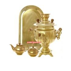 Набор (самовар электр. 3 л., поднос, чайник, сахарница)