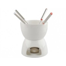 Набор для фондю: чаша на 500 мл, подставка, свеча, 4 шпажки