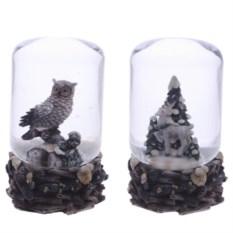 Декоративная фигурка в стеклянном шаре Зимний лес
