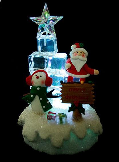 Новогодняя композиция с подсветкой Ледяная ёлка