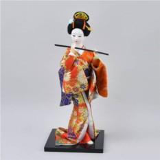 Коллекционная фарфоровая фигурка гейши в кимоно