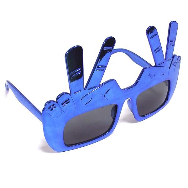 Очки 2 пальца, синие