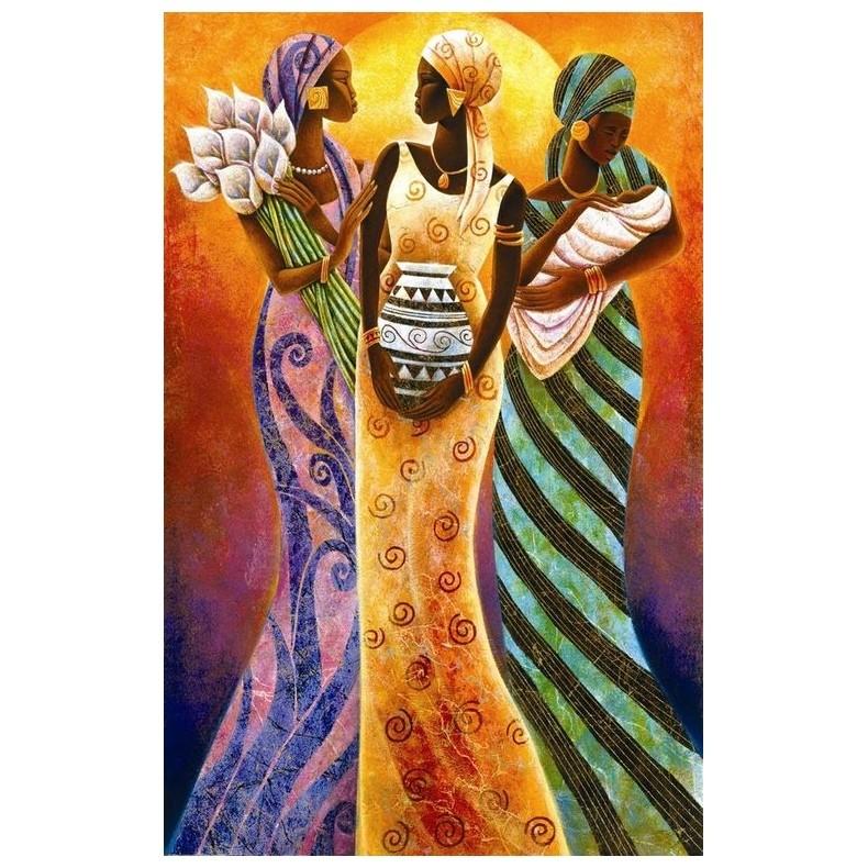 Картина-раскраска по номерам на холсте Сёстры Солнца