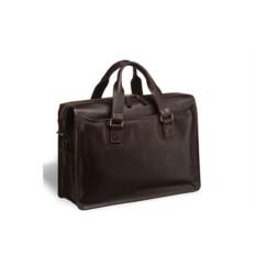 Деловая коричневая сумка для документов Nelson