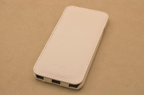 Кожаный чехол для iPhone 6 «Утро в Кальяри» (белый, личи)