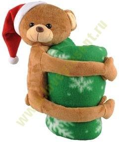 Мягкая игрушка «Медвежонок» с пледом