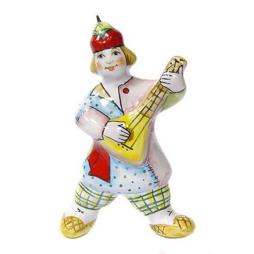 Ёлочная игрушка Петрушка с балалайкой
