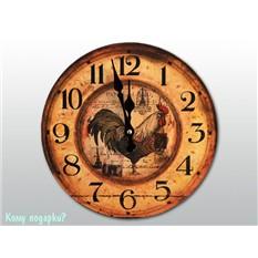 Часы настенные с рисунком «Петух»