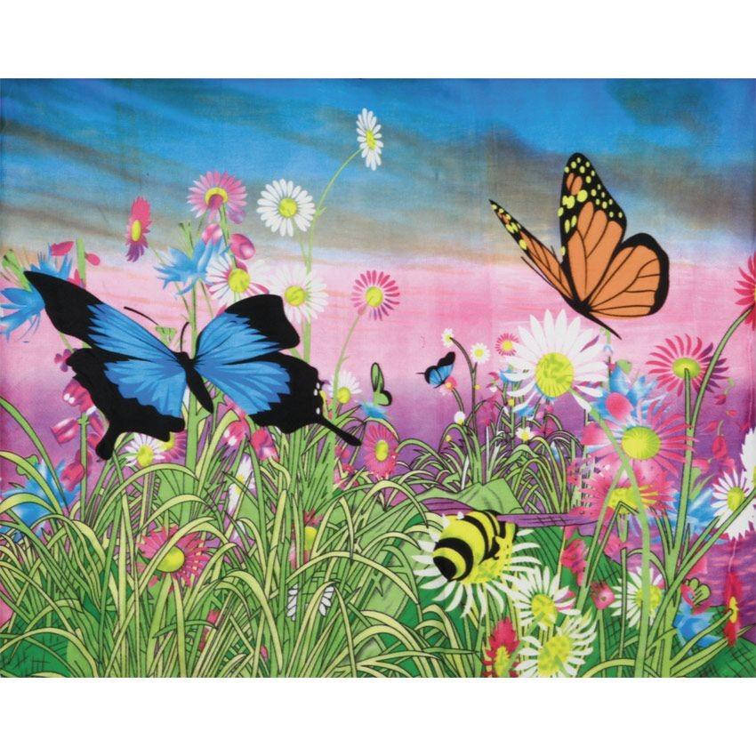 Плед флисовый Бабочки