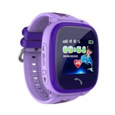 Детские часы с GPS Smart Baby Watch W9 (цвет: фиолетовый)