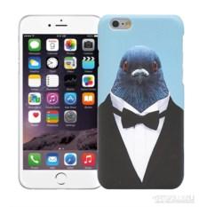 Чехол для iPhone 5/5s, 6/6s Голубь в костюме