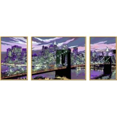 Триптих по номерам Ravensburger Небоскребы Нью-Йорка
