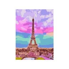 Картины по номерам «Романтика Эйфелевой башни»