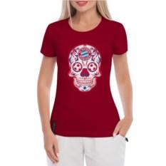 Женская футболка Bayern Мексиканский череп