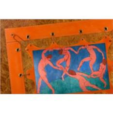 Картина из кожи Танец Анри Матисс (прямоугольная)