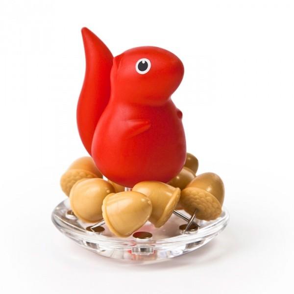 Канцелярские иголки с красной белкой Squirrel