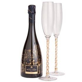Пара бокалов для шампанского Twisted
