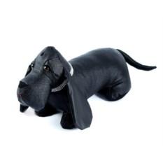 Черный стоппер для двери Собака