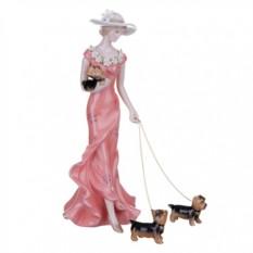 Статуэтка Дама в розовом платье 23см