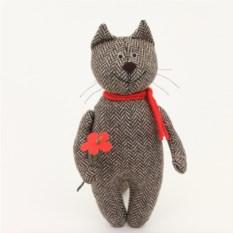 Мягкая игрушка ручной работы Влюбленный кот