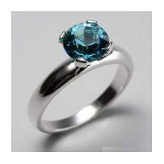 Кольцо Голубая мечта, кристаллы Swarovski