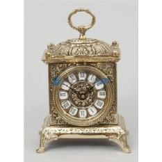 Бронзовые часы золотого цвет Ларец
