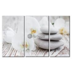 Модульная картина «Белое спокойствие» 50×32 см