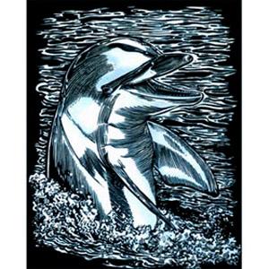 Гравюра серебряная «Дельфин»