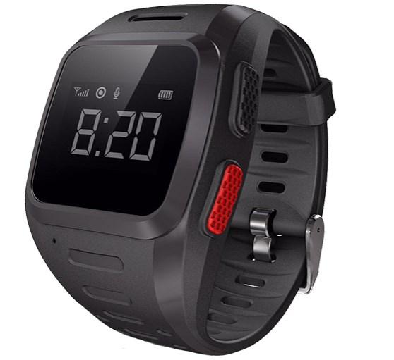 Черные часы-телефон с gps для детей от Wochi