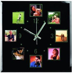 Настенные часы с 8 рамками для фотографий