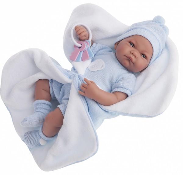 Озвученная кукла-младенец Фернан в голубом