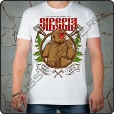 Мужская футболка Сибирь, russian pride