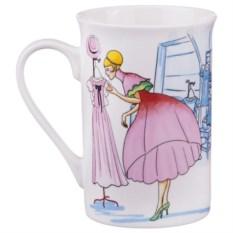 Кружка Дама в розовом платье, объем 360 мл