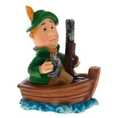 Декоративная фигурка Охотник в лодке