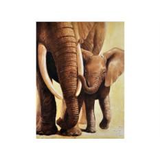 Набор для вышивки стразами «Слоненок с мамой»