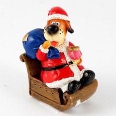 Декоративная фигурка Собачка Санта