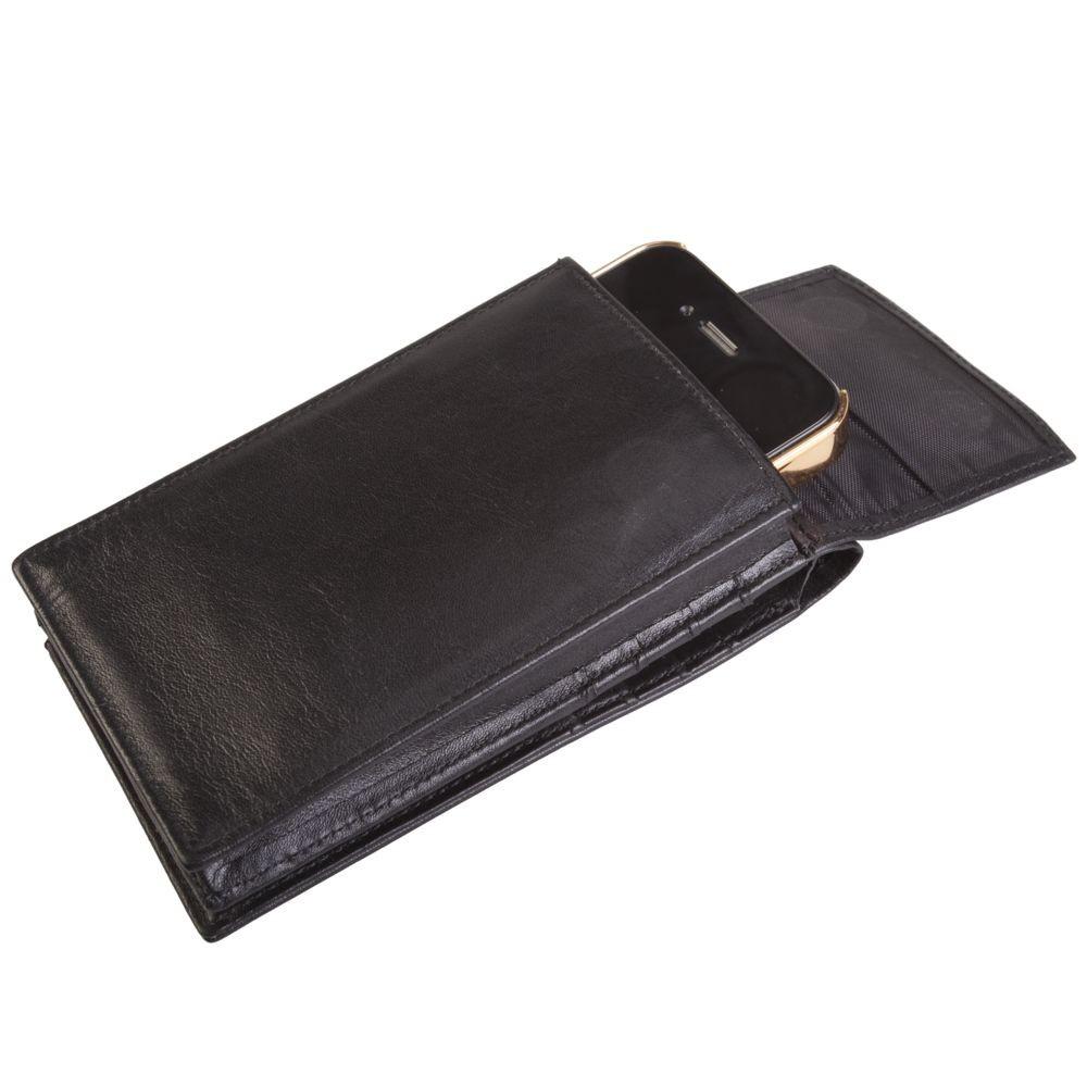 Кошелефон - футляр для смартфона с кошельком, черный