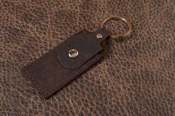 Брелок для ключей-футляр для флешки GukFactory из кожи