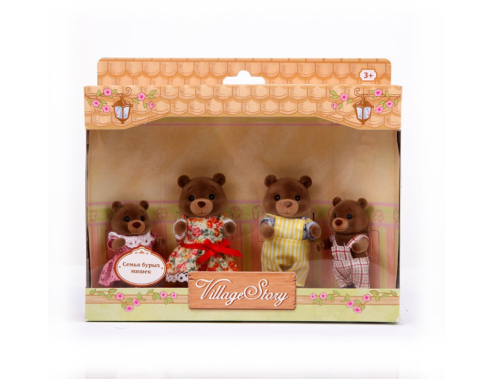 Игровой набор Семья бурых мишек