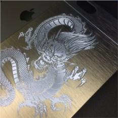 Чехол золотистого цвета для Iphone 6 с гравировкой